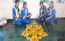 Floral Rangoli Making